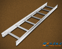 Straight-through type of ladder cable tray